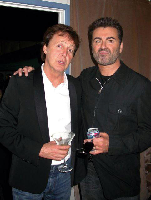 Image result for paul mccartney george michael