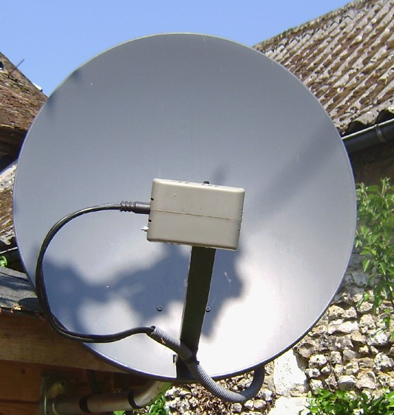 tête antenne satellite