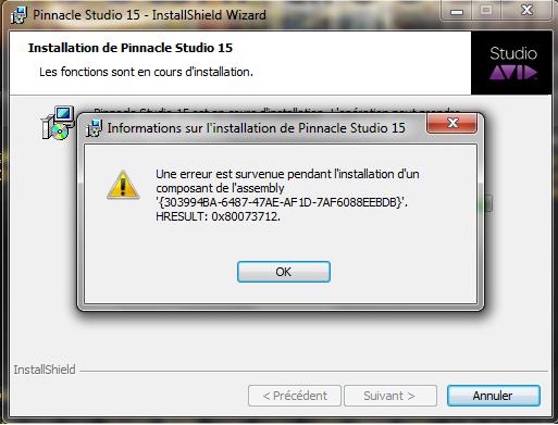 code d'erreur 47872 installer xp sur vista