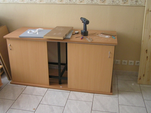 Meuble perso pour aqua 450l for Pret caf pour meuble