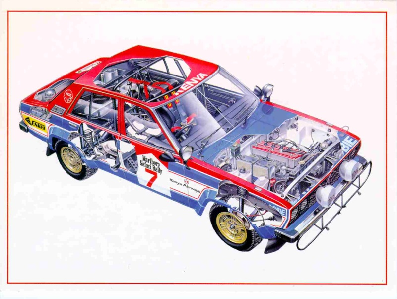 Nissan Datsun Violet Gt Group 4 1981 Racing Cars