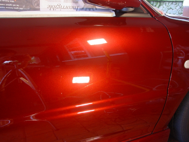 Proton Wira Special Edition Deep Red Wet Shine Detailing