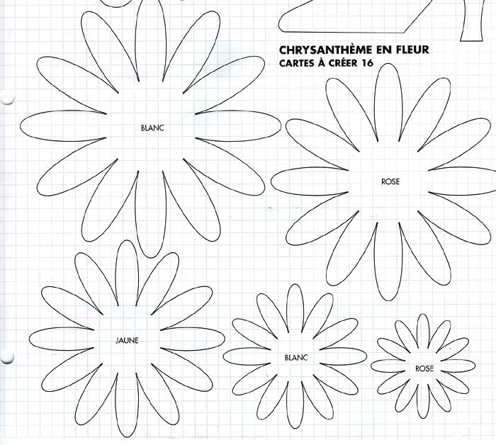 Gabarit grosse fleur - Modele de fleurs en papier ...
