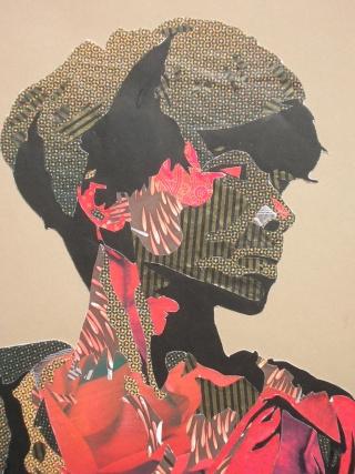 ROUGGE et NOIR, petit clin d'oeil.... dans Collages expo2022