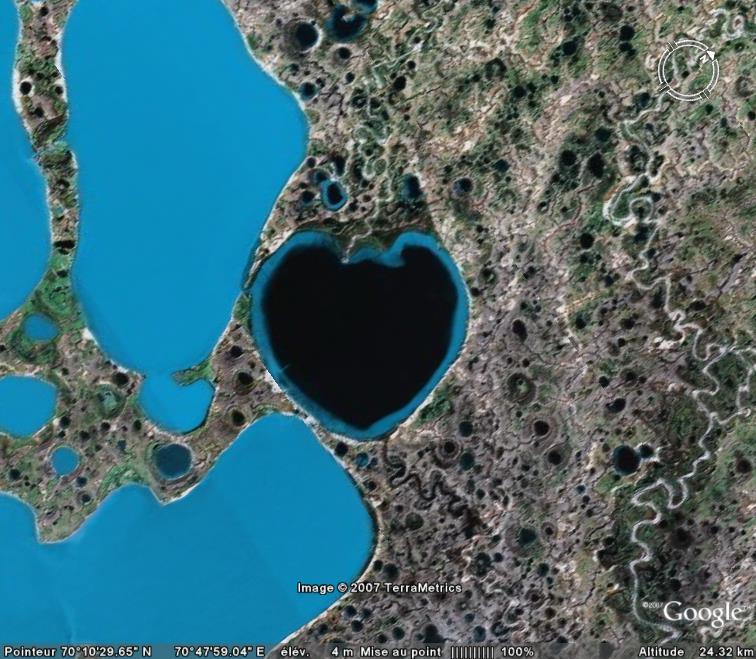 Les c urs d couverts dans google earth for Dans nos coeurs 53