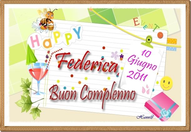 Estremamente 10-giu Compleanno Federica (Camicia) WB43