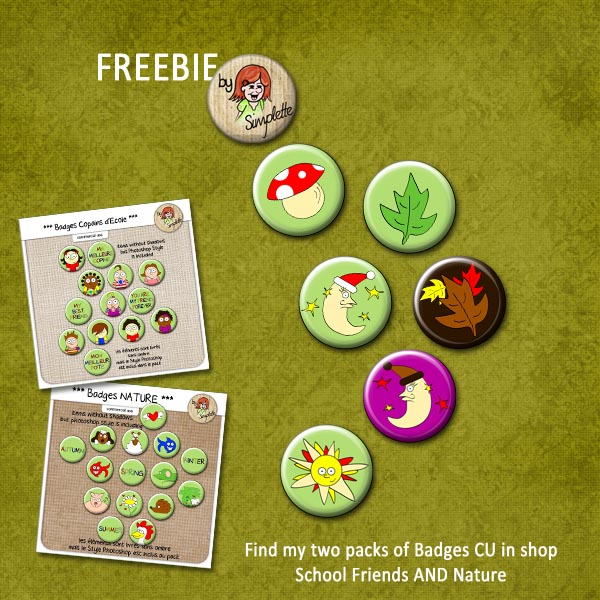 simplette freebie badges CU CU4CU