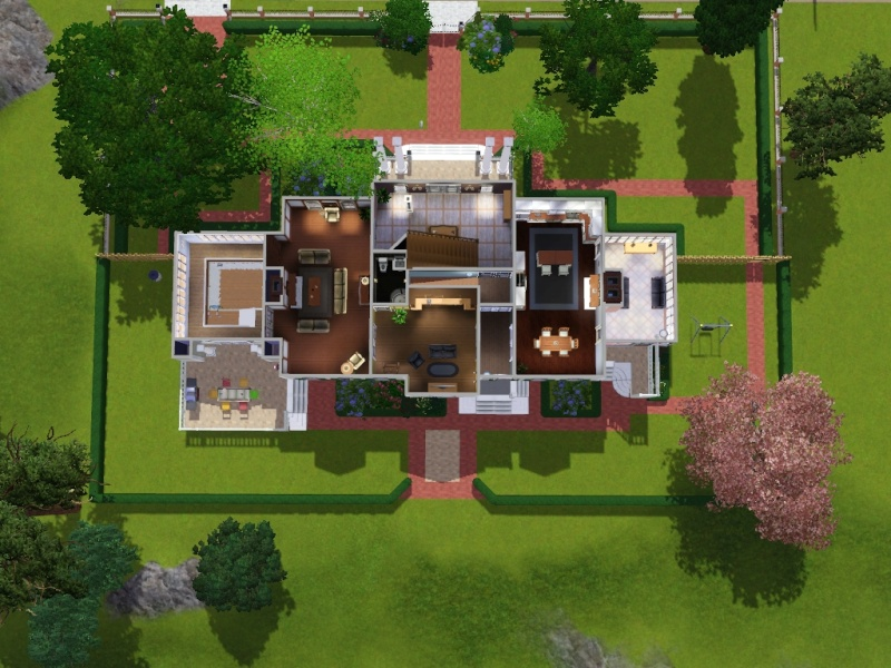 Mes cr ations sims 2 et 3 page 1 for Cuisine typique americaine