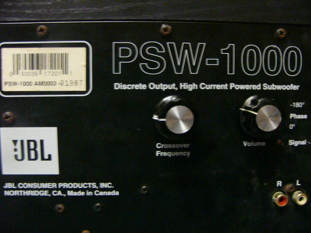 Jbl Psw 1000 Active Sub Used Sold