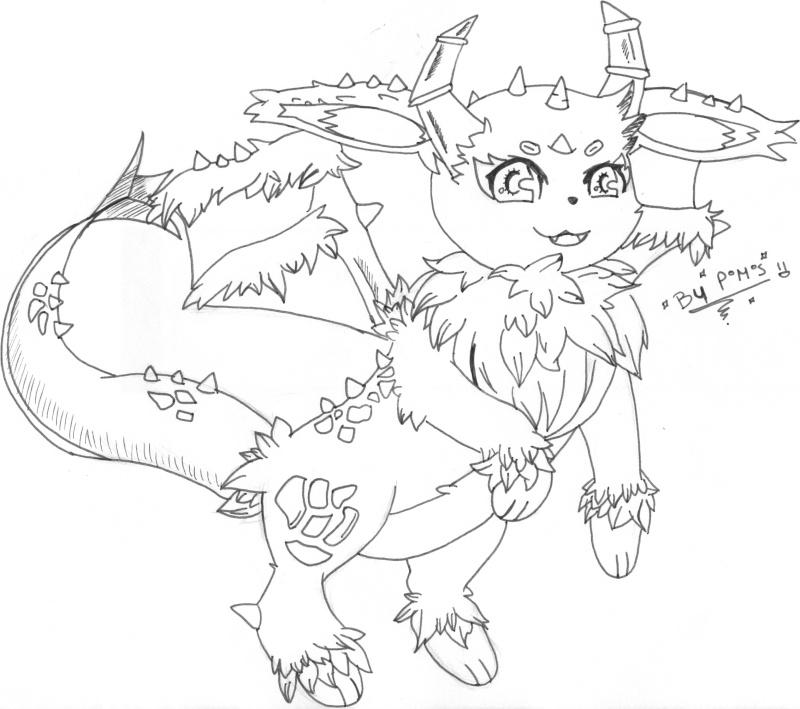 Carnet de dessin d 39 un petit pokabu page 2 - Pokemon noir 2 evoli ...
