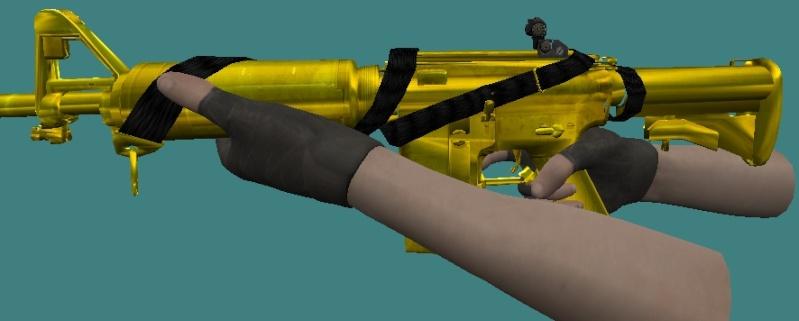 Gold Commando Gun