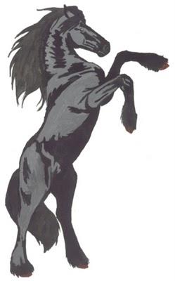 Un autre de mes passe temps le dessin la peinture - Frison qui saute ...