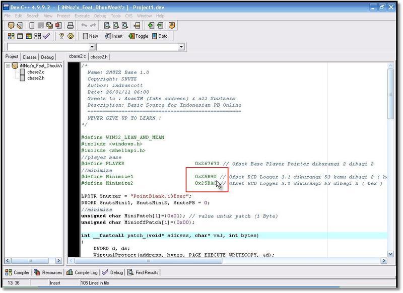 Cara-cara membuat cheat ( dll ) dengan tool (point blank)