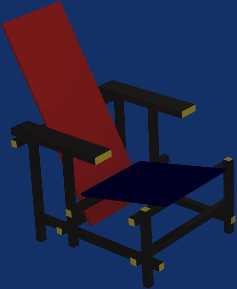 La chaise rouge et bleue de rietveld diomedea for La chaise rouge et bleue