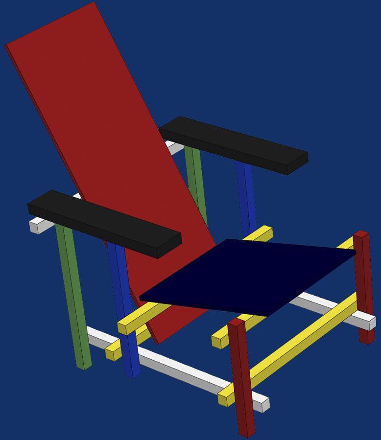 La chaise rouge et bleue de rietveld - Chaise rouge et bleue ...
